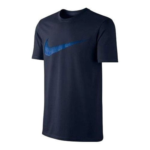 Nike Herren Sportswear Hangta Swoosh Kurzarm T-Shirt, Dark Obsidian/Varsity Royal, 2XL