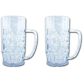 bruchsicherer Kunststoff Gläser Bierkrüge 0,5l 12 St