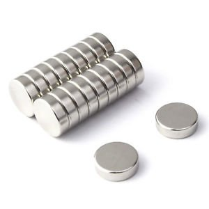 PLAYAUTOMA Nickle Coated Disc Magnets (6 x 3 MM)(20 Pieces)