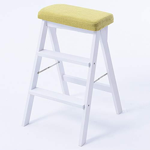 Climbing Ladder Household use Stairs Stool Ladder Colors Steps Step ZENGAI Three Stool3 Kitchen Wooden Folding Multi Dual step purpose Iibrary FlKJ1c