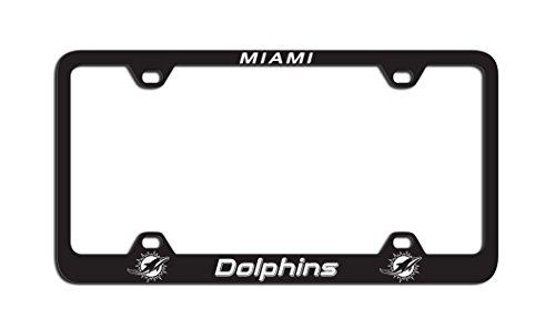 Fremont Die NFL Miami Dolphins Laser Nummernschild Rahmen, One Size, Team Farbe