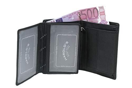 Portefeuille RFID - Portefeuille pour permis de Conduire - Portefeuille Homme très Pratique - Facile à Glisser dans la Poche - Cuir de Vachette