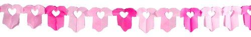 Papier Girlande Baby; Body Mädchen rosa