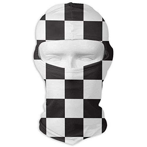 Wdskbg Ski Mask Black and White Buffalo Plaid Sun UV Protection Dust Protection Wind-Resistant Face Mask for Running Cycling Fishing New8 - Buffalo Plaid Fleece