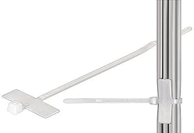 Fixpoint 17095 Kabelbinder mit Beschriftungsfeld, 25mm x 8 mm Feldgröße, Transparent (100-er pack)