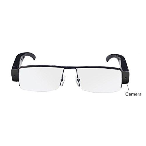 Flylinktech 2015 Fashion Brille Neueste Zwei-Tasten HD 1920  1080 Spion Kamera Glasses 1080P DV DVR versteckte Kamera Eyewear DVR Video Recorder Camcorder Sport DVR - 2