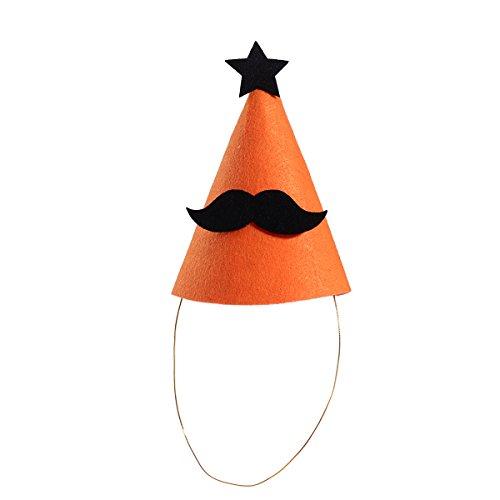 LUOEM Halloween Party Hut für Kinder Baby Schnurrbart Deko mit (Hüte Kegel Schnurrbart)