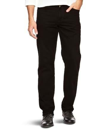 Wrangler Texas Stretch - Pantalon - Droit - Homme, Noir, W42/L30 (Taille fabricant: W42/L30)