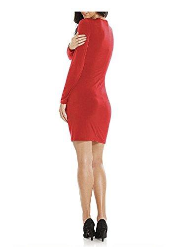 Ashley Brooke -  Vestito  - Opaco - Donna Rosso