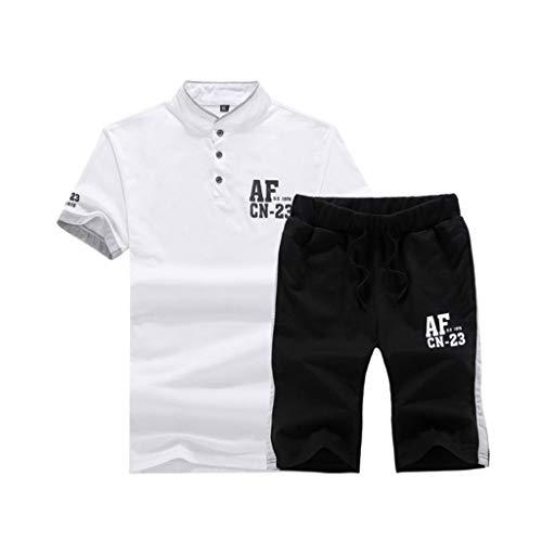 Herren Sommer Sportswear Casual Sport Anzüge Kurzarm Shirts und Shorts (Color : 2, Size : XXXXL)