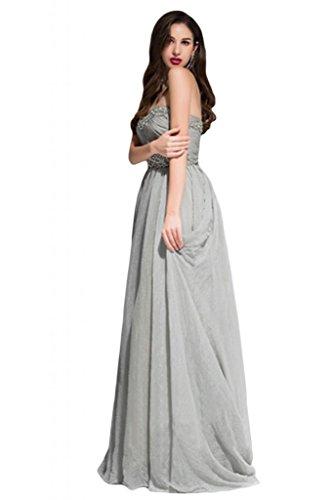 Sunvary trasparente, da donna, per abiti da sera o da cerimonia, con colletto imbottito decorato con strisce di tessuto pieghettato Gowns Mermaid Rosso
