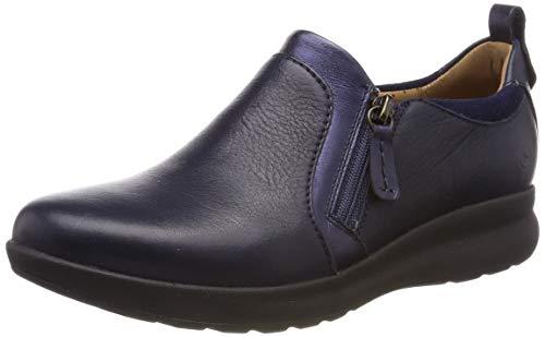 Clarks Damen Un Adorn Zip Slipper, Blau (Navy Combi), 39.5 EU