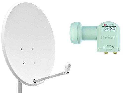 Opticum X80 antena parabólica 80 cm LNB Twin LTP-04H