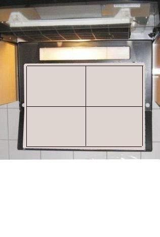 3 x Universal Dunstfilter für Dunsthauben