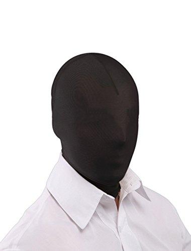 Queenshiny® Kopfmaske Zentai Maske (Schwarz) (Erwachsenen Schwarzen Catsuit Kostüme)