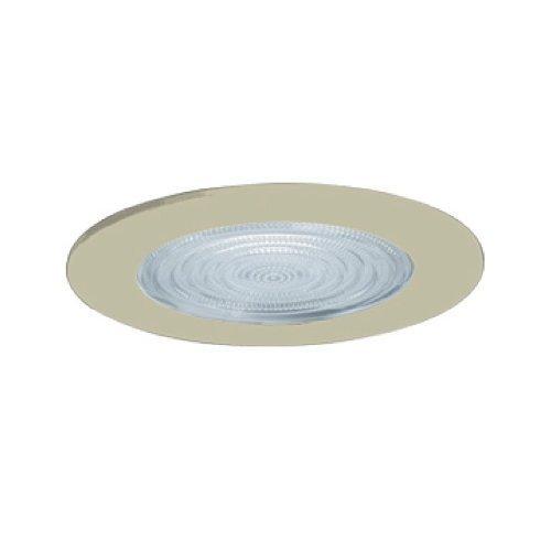 Jesco Lighting TM5507ST 5-Inch Aperture Line Voltage Trim Recessed Light, Fresnel Lens For Shower, Satin Chrome Finish by Jesco Lighting Group (Fresnel-trim)