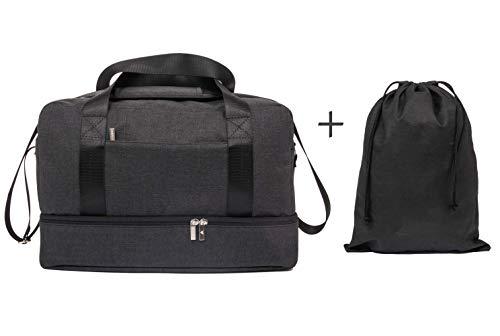 Deltago - bagaglio a mano 40x20x25 ryanair - set borsa da viaggio + sacca scarpe - valigia zaino volo da cabina aereo, multiuso, pratica, leggera, impermeabile, 20 l, uomo donna