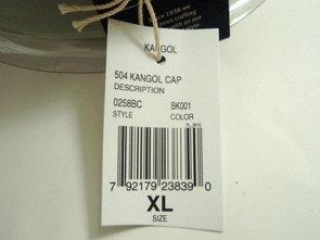 Graue Flatcap 504 von Kangol der Young Fashion Line aus 100% reiner Schurwolle Schwarz M