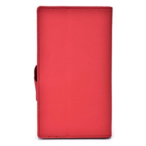 Kroo Étui de protection universel compatible avec, compatible avec Samsung Galaxy S5Active Plus/S5/Grand 2/Note/Note 3Neo avec fonction support Bleu foncé rouge