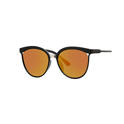 Vikimen Sportbrillen, Angeln Golfbrille,Sexy Black Cat Eye Sunglasses Women Shades Famous Brand Luxury New Designer Trendy Sun Glasses Female Small White Points UV400 Red
