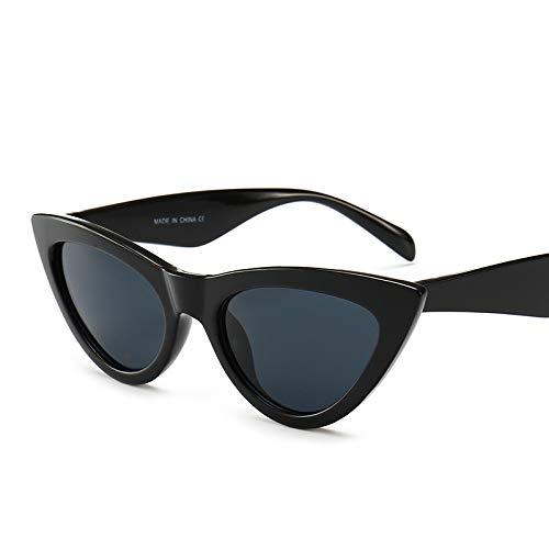 Yangjing-hl Katzenaugen-Sonnenbrille helles schwarzes graues Stück