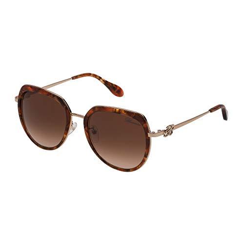 Blumarine occhiali da sole donna cammello lucido lenti brown gradient sbm114s 08fe 53-20-135