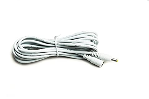 Kingfisher Technology Long 3m Extension Lead 2A Female to Male DC Plug Power Charger Cable White (18AWG) 4 Panasonic Sanyo Gorilla Car Navigation System GPS