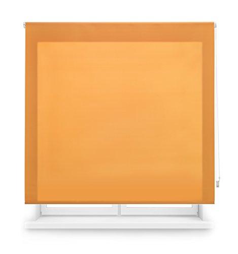 Blindecor Ara - Estor Enrollable translúcido Liso, 120 x 175 cm, Color Naranja