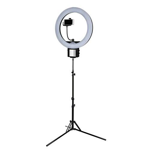 Preisvergleich Produktbild 12 Zoll / 18 Zoll LED-Ringleuchte kann Farbtemperatur und Helligkeit um 360 Grad drehen Lampe füllen Licht,  USB-Aufladung, 12IN