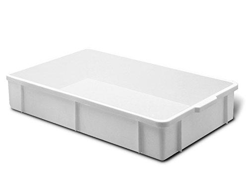 Giganplast Transport Cassetta, Plastica, Bianco, 60 x 40 x 8 cm