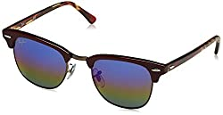 Ray-Ban UV Protected Browline/Clubmaster Mens Sunglasses - (0RB30161222C249 49 Silver Color)