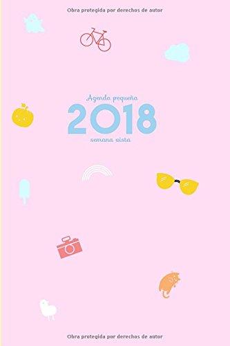 Agenda pequeña 2018 semana vista: Una semana por lado doble
