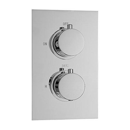 Enki-Valvola termostatica doccia miscelatore Round 2Dial (Anti Scald Dispositivo)