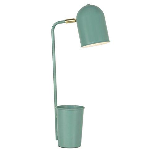 ZfgG Tischlampe LED Wohnzimmer Moderne Schlafzimmer Augenpflege Kreative Mobile Desktop Knopfschalter Tischlampe 31 Watt (inklusive) -40 Watt (inklusive) (Farbe : Blau) Mobile Arbeit-feld