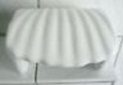 Wiegand Achtung: Artikel Weist kleine Fehler auf in der Glasur:oilettenpapierhalter aus Keramik in Form Einer Muschel Dekor weiß -