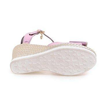 LvYuan Da donna Sandali Comoda Cinturino alla caviglia Vernice Estate Casual Formale Comoda Cinturino alla caviglia Zeppa PolaccheOro Argento blushing pink