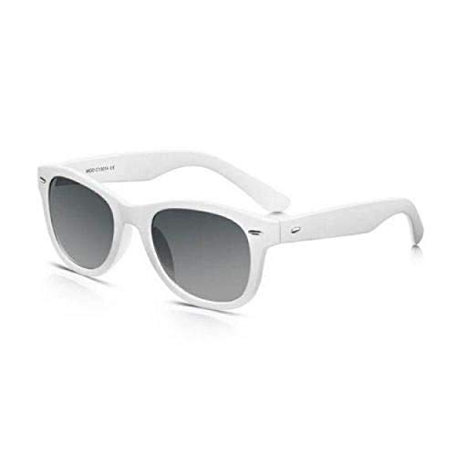 Wayfarer Sonnenbrille weiß - Kunststoff - Modern Look - Blaue Brille