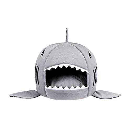 Feidaeu Haustier-Haus-Hundekatze-Bett-Netter Hai-Muster-Entwurfs-weiche Bequeme Gesundheits- und Sicherheits-Kleintierprodukte -