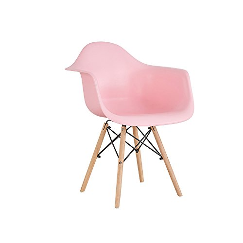 YQQ Das Produkt Enthält Zwei Stühle Kunststoff + Holz + Metall 49cm * 43cm * 83cm Mehrere Farben (Farbe : Pink) - Moderner Kunststoff-stuhl