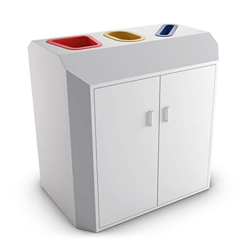 urbaniere Atlas Contenedor Reciclaje 80L Naranja//Papelera Reciclaje Ideal para Interiores y Exteriores//Cubo de Basura pl/ástico alveolar de 4 mm//Dimensiones 35 x 35 x 70 cm