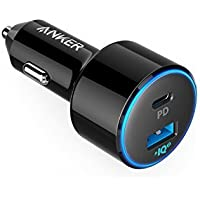 Anker In-Car Fast Charge Power Cord Cigarette Lighter Adapter Power Drive Speed + 2USB C Car Charger 2Port 49W with Power Delivery Pixel For Iphone x 8/8Plus, with Strong PowerIQ 2.0for Samsung S9/S8/S8+, Note 8, Galaxy Series And Many More - ukpricecomparsion.eu