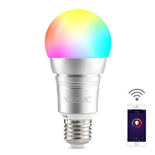 Yissvic Smart WiFi Lampe E27 9W WLAN Glühbirnen dimmbar Bulb steuerbar via App kompatibel mit Alexa Google Home Echo, Echo Dot 1 Pack (Verpackung MEHRWEG)