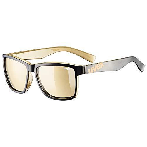 Uvex Erwachsene lgl 39 Sonnenbrille, schwarz, one Size
