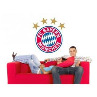Alenio FC Bayern München Wall Tattoo Logo approx. 32x30cm