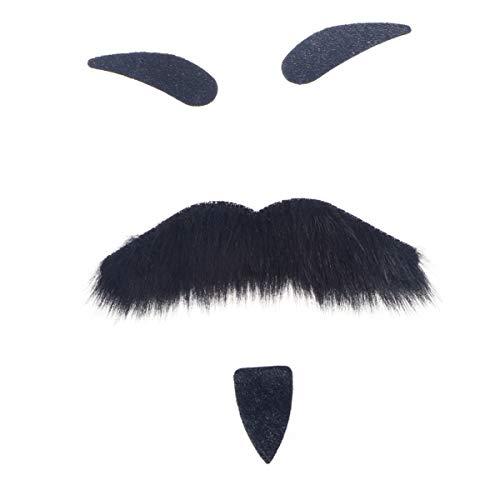 Kostüm Kit Aviator - Holibanna gefälschte Augenbrauen Bart Schnurrbart Kit selbstklebende Gesichtsbehaarung Requisiten drei Stück Verkleidung Dekoration