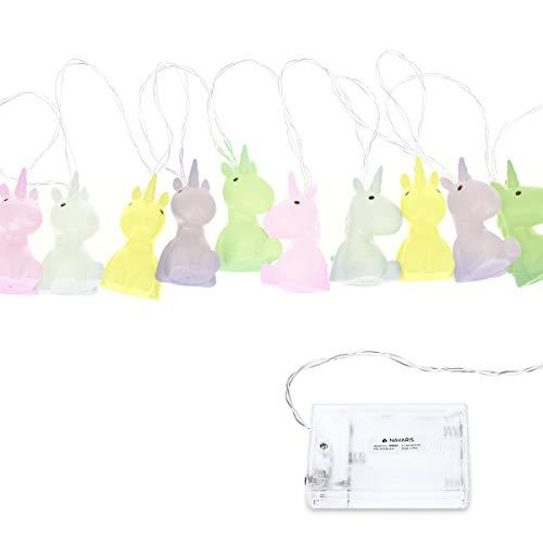 Navaris Tira de luces LED con diseño de unicornio - Cadena de luces de 2M - Cadena de luces nocturnas...