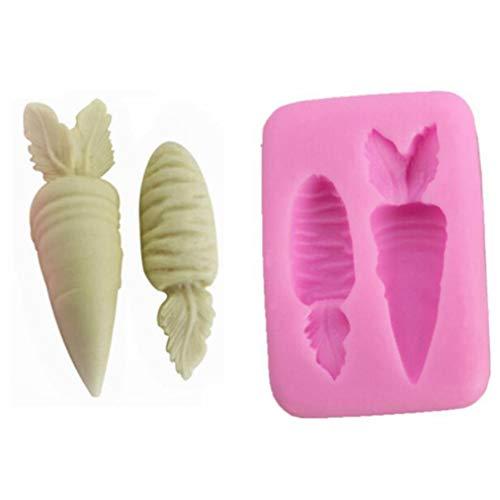 kformen Fondant Kuchen Dekoration Form Schokolade Form Eiswürfel Formen Modellieren für Kuchen Dekorieren BPA-frei Karotten für Zuhause Dekoration Rose ()