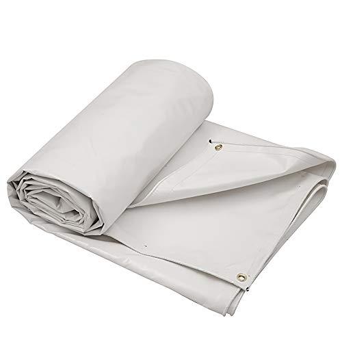Tela cerata bianca/telo impermeabile in pvc spesso/telo parasole per tende da sole telo antivento antipioggia/telo cerato per casa/panno per raschiare lama esterna (650 g / m2)