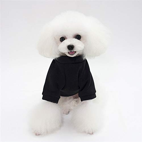 HUAIX petsuppliesmisc Pet Kleidung Katze Hund Pullover Teddybär Kostüm Haustier Kleidung Herbst und Winter läuft Menge Hemdhemd Hundekleidung (Color : Black, Size : M) (Hund Für Kostüm Teddybär)