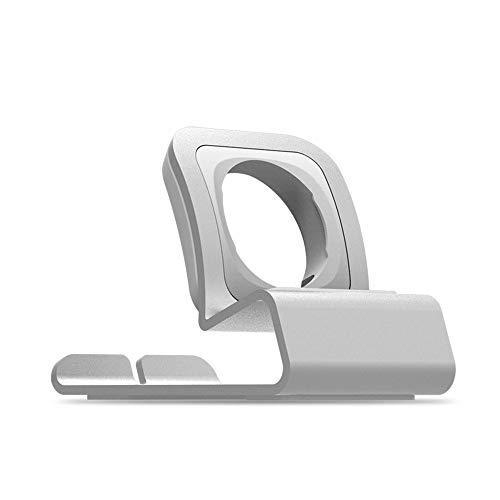 Vamoro Ladestation Halterung Ladestation für Apple Watch iWatch(Silber;)